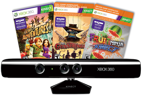 XBOX 360 Kinect Sensor +3 games bundle - Gamechanger