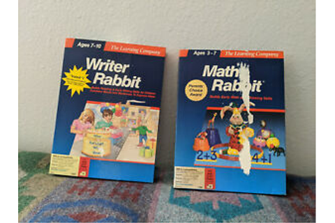 IBM Tandy 1000 Math Rabbit & Writer Rabbit The Learning ...