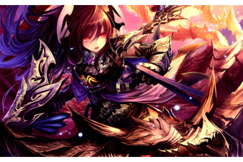 Blood of Bahamut Action Anime RPG Wallpaper for Widescreen ...
