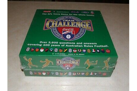 AFL Team Challenge Trivia Board Game 1997 Aussie Rules ...