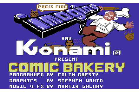 Comic Bakery (1986) by Imagine C64 game