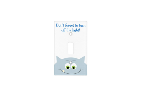 Monster Turn Off The Light Reminder Light Switch Cover ...