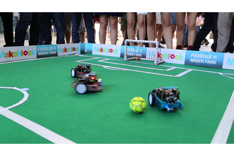 Makeblock mBot Soccer Game - YouTube