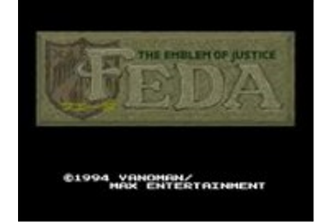 Feda - The Emblem of Justice - Super Nintendo (SNES) Game