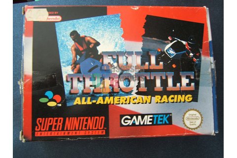Full Throttle: All-American Racing - Nintendo: SNES ...