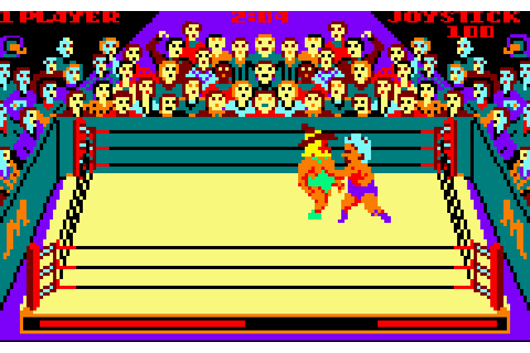 Rock'n Wrestle (1986) by Beam Software Amstrad CPC game