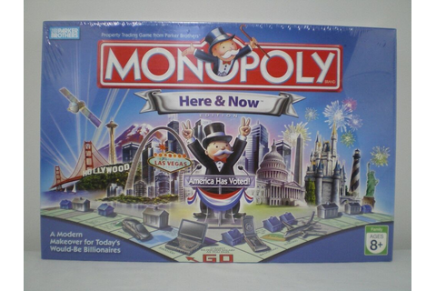 NEW and SEALED MONOPOLY HERE AND NOW EDITION BOARD GAME ...