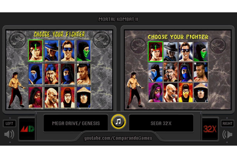 Mortal Kombat II (Sega Genesis vs Sega 32X) Side by Side ...