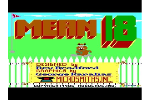 Mean 18 gameplay (PC Game, 1986) - YouTube