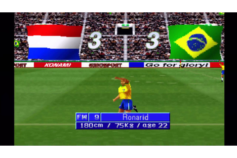 PS1 Game: ISS Pro 98: Brazil VS Netherlands - YouTube