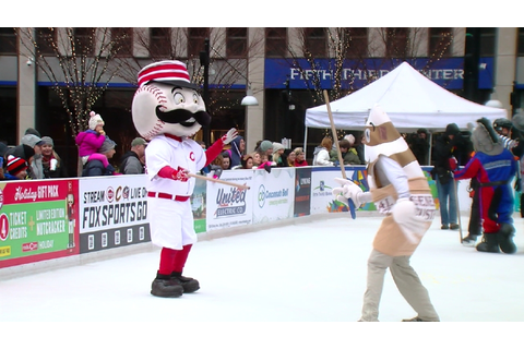 Local mascots entertain crowds in broomball game | WKRC