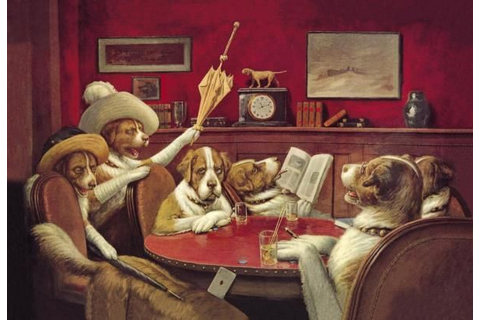 C.M. Coolidge - Poker Dogs: This Game Is Over, 1903 - Fine ...