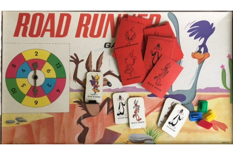 1968 Vintage Milton Bradley Road Runner Board Game – All ...