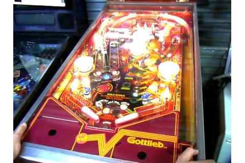 GOTTLIEB 1984 THE GAMES PINBALL MACHINE - YouTube