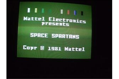 Space Spartans Intellivision 1982 Game Working Copy ...