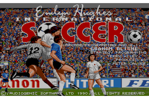 Emlyn Hughes International Soccer (1990) by Audiogenic ...