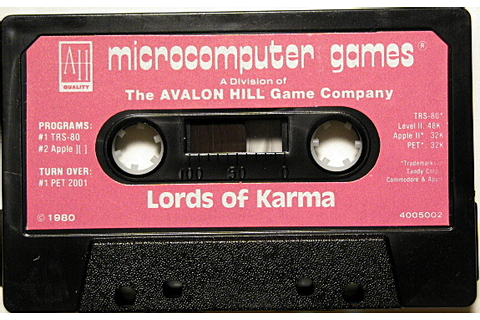 Computer Game Museum Display Case - Lords of Karma