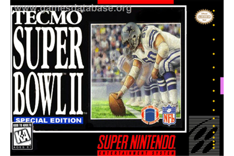 Tecmo Super Bowl II: Special Edition - Nintendo SNES - Games Database