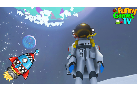 ASTRONAUT Game cartoon for children about space, cars and ...