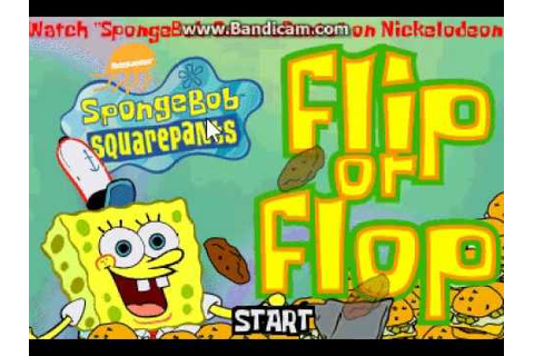 SpongeBob SquarePants - Flip Or Flop (2001 Shockwave Game ...