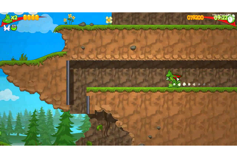 Super frog pc game play - YouTube