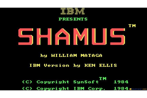 Shamus gameplay (PC Game, 1986) - YouTube