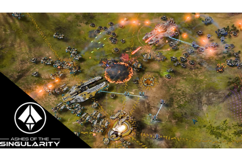 Ashes of the Singularity Gameplay - 3v3 game to 3v1 - YouTube