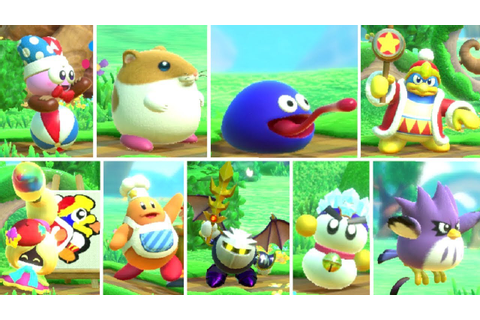 Kirby Star Allies - All Characters (DLC Included) - YouTube