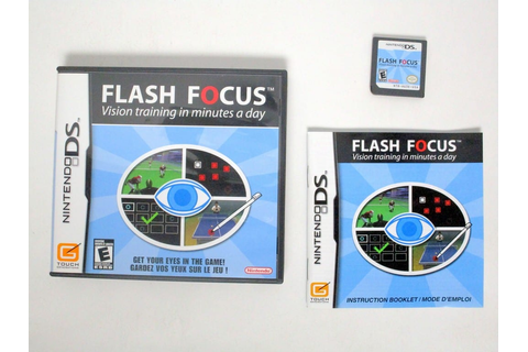 Flash Focus Vision Training game for Nintendo DS (Complete ...