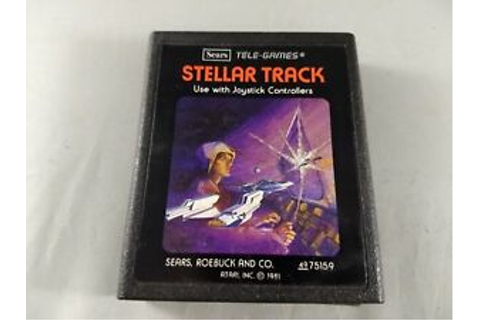 1981 TELE-GAMES SEARS STELLAR-TRACK ATARI 2600 GAME RARE ...