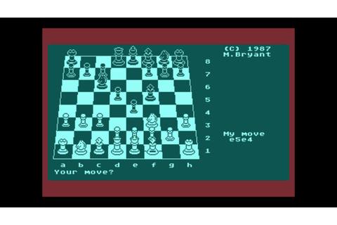 Colossus Chess 4 for the Atari 8-bit family - YouTube