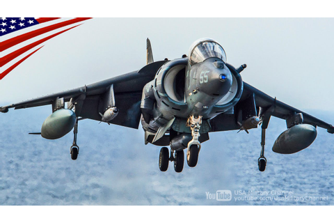 AV-8B Harrier II Flight Deck Ops with Cool Slow Motion ...