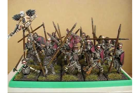 Mantic Skeleton warriors finished - YouTube