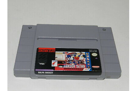 NHLPA Hockey '93 Super Nintendo SNES Video Game Cart ...