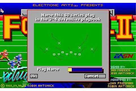 John Madden Football II Download (1991 Sports Game)