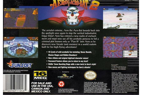Aero the Acro-Bat 2 (USA) ROM
