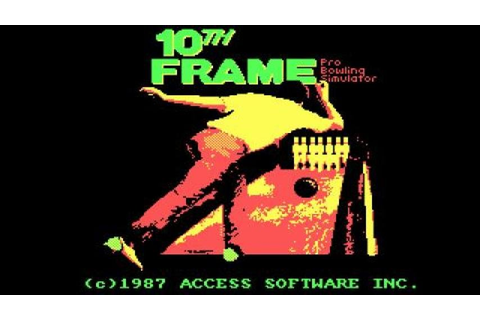 10th Frame Bowling gameplay (PC Game, 1986) - YouTube