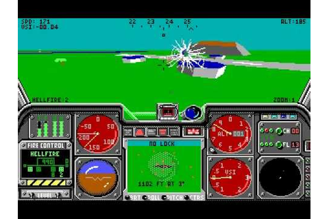 [PC DOS] LHX: Attack Chopper - Surgical Strike - YouTube