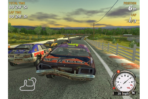 FlatOut 1 Game Admin 00:24 Car Racing Racing Games ~ Mehran