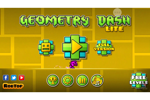 Geometry dash game play - YouTube