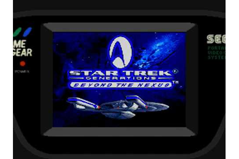 Game Gear - Star Trek Generations: Beyond the Nexus Intro ...