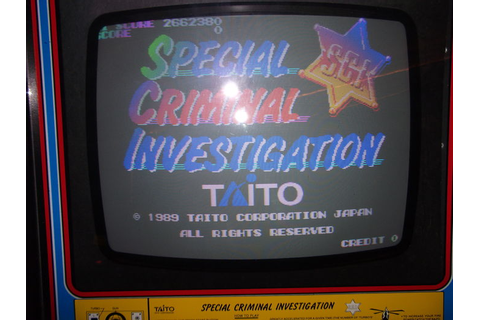 special criminal investigation video game 1989 van taito ...