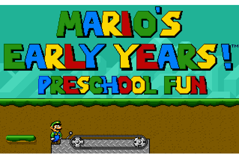 Download Mario's Early Years: Preschool Fun - My Abandonware