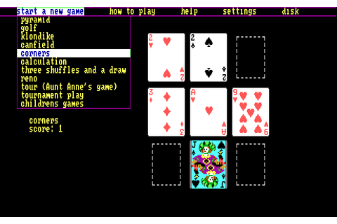 Solitaire Royale (1987) MS-DOS game