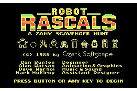 Robot Rascals Download (1987 Strategy Game)