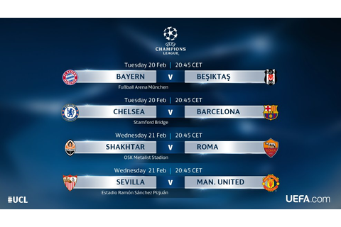 Schedule of UEFA Champions League and Europa League games ...