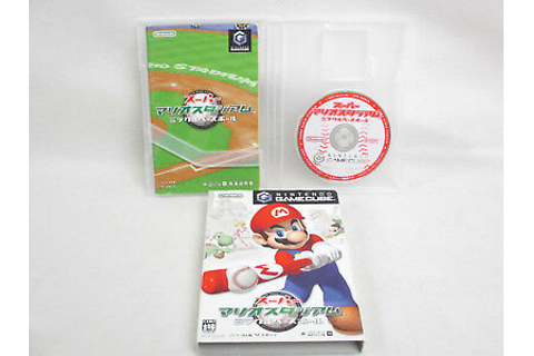 SUPER MARIO STADIUM Miracle Baseball REF/ccc Game Cube ...