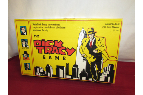 The DICK TRACY GAME University Games Walt Disney