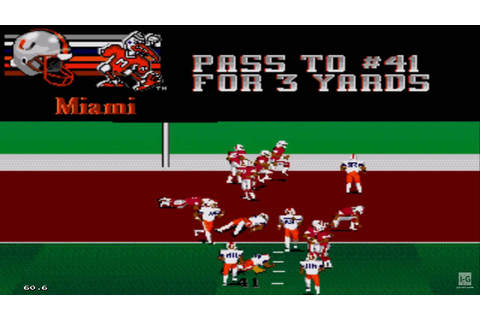 College Football USA 96 Sega Genesis Gameplay HD - YouTube