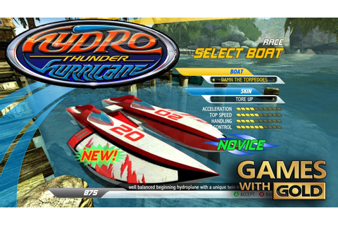 Hydro Thunder Hurricane Game With Gold September - YouTube